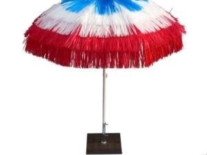 Rafia parasol France colors