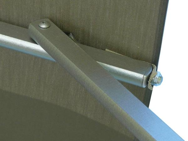 ombrellone laterale fibrasol silver