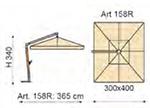ombrellone laterale rettangolare158r