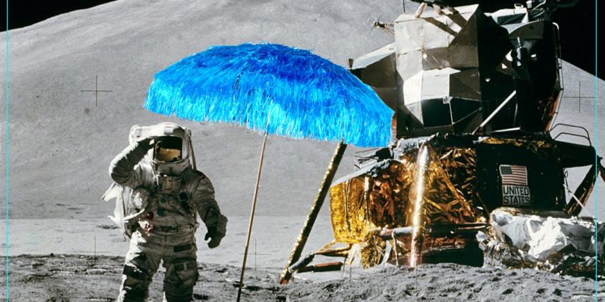 Allunaggio Kenya Maffei - ombrelloni rafia