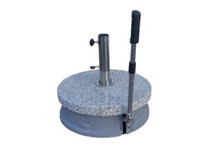 base in granito con ruote